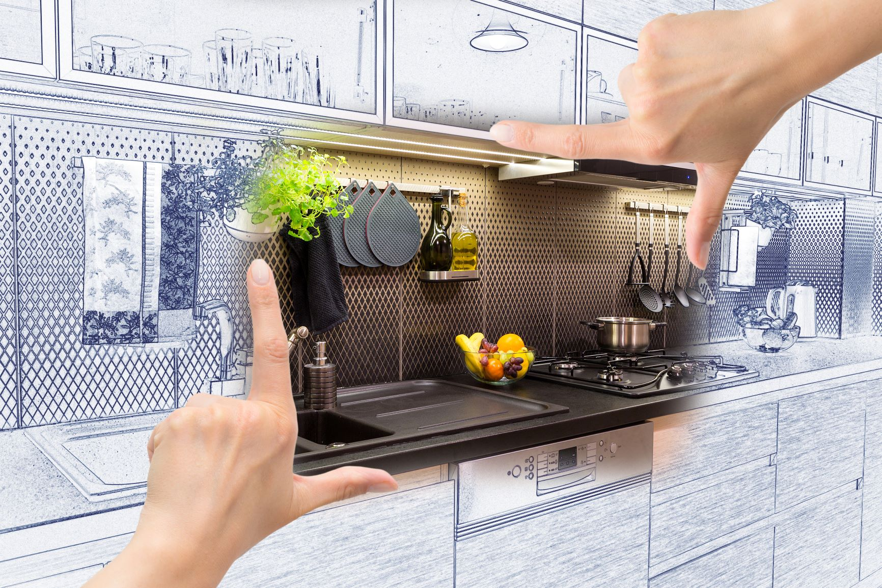 Future Look Of A Renovated Kitchen Counter
