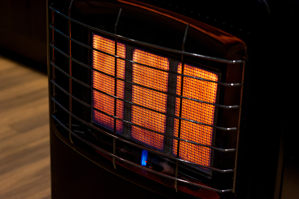 Indoor Heater With A Grill